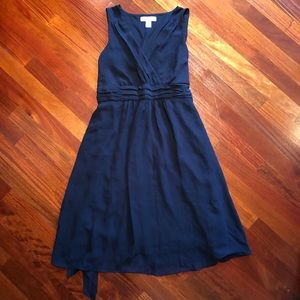 Navy Blue chiffon maternity dress